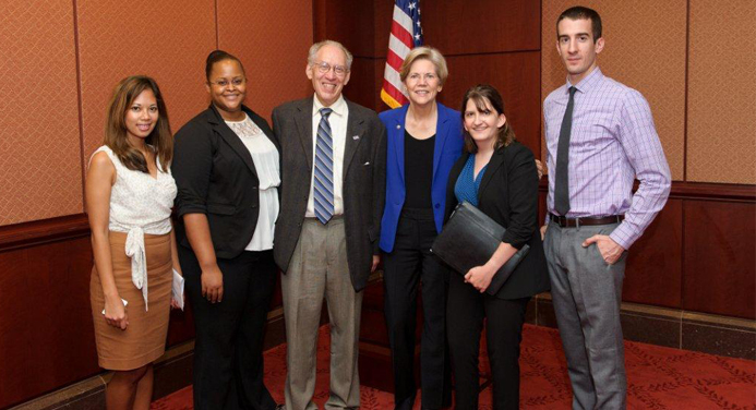 Brandeis Scientist with Senator Warren