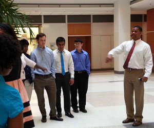 Richard Watkins with Chancellor's Science Scholars