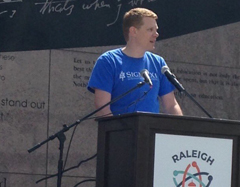 Jamie Vernon at Raleigh March for Science 2018