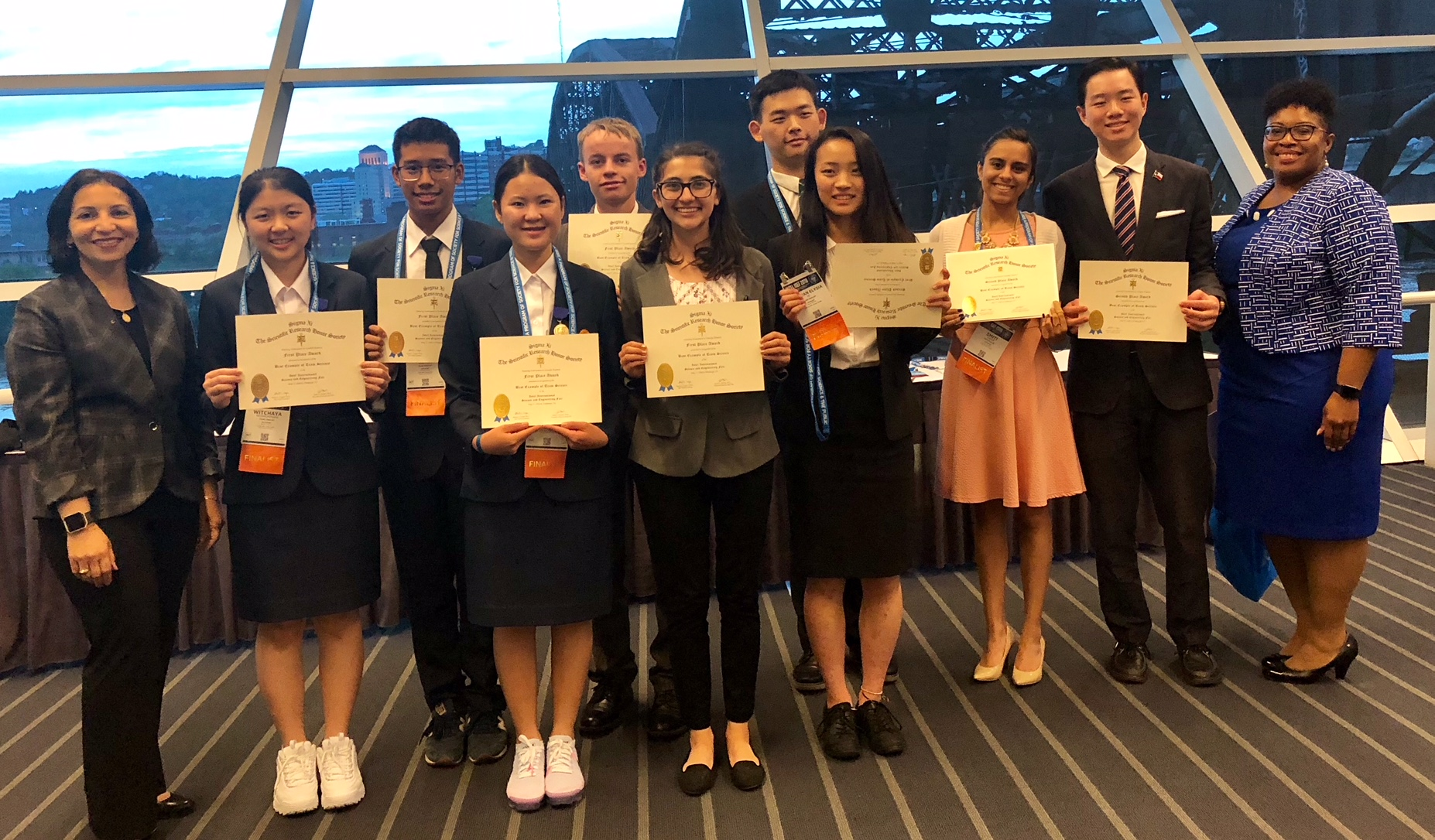 Intel ISEF 2018 Sigma Xi Special Awards Winners