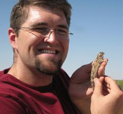 Kevin Floyd and the horned lizard