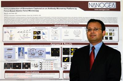 Dhruvajyoti Roy with research poster