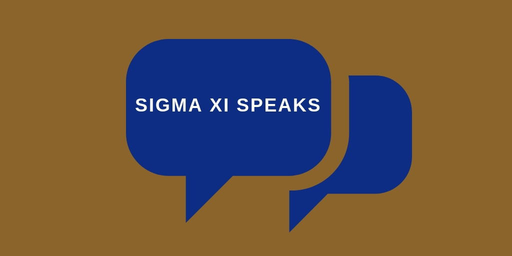 Sigma Xi Speaks logo