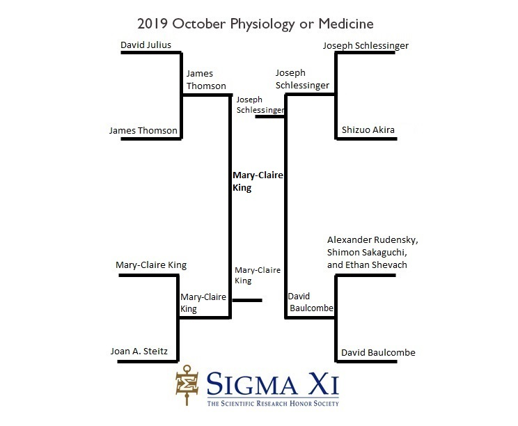 2019 Bracket Results Physiology or Medicine