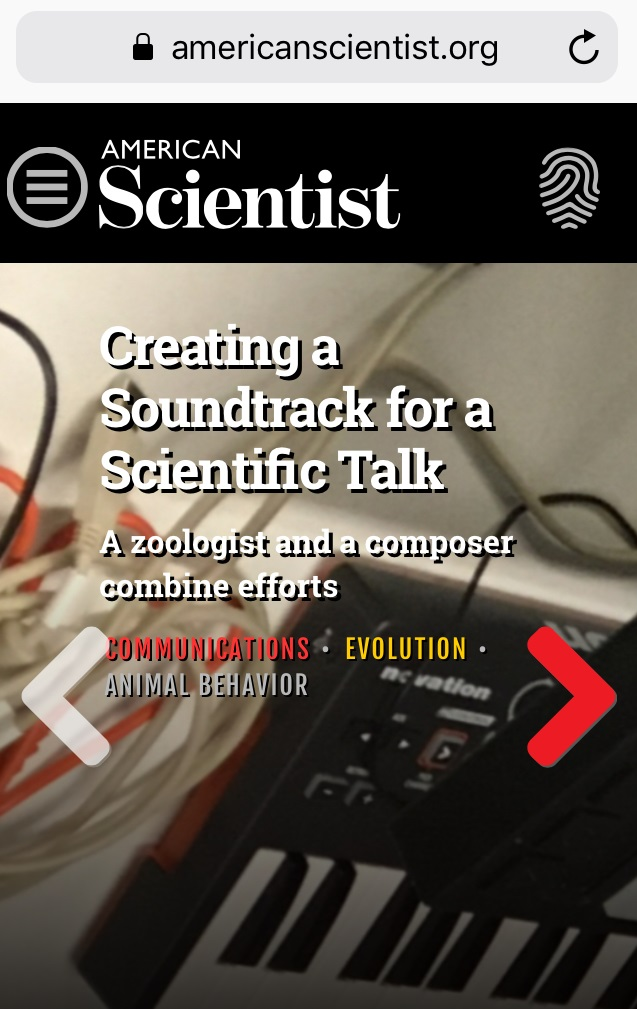 americanscientist.org screenshot