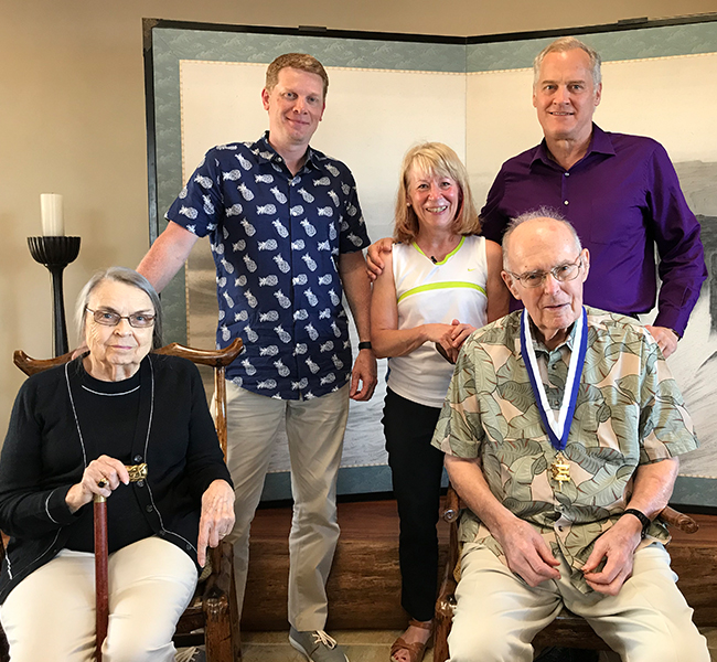 2019 Gold Key Award presentation with Gordon Moore